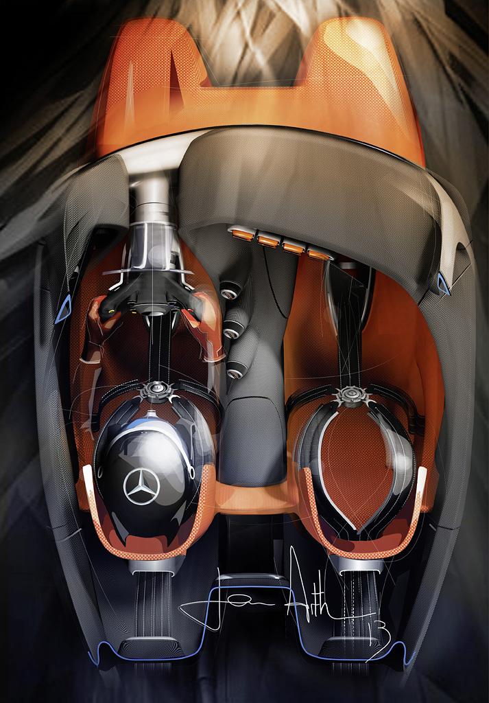 Mercedes benz amg vision gran turismo unveiled as first in vision gran turismo series gran - Turismo interior ...