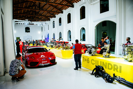 The reconstructed workshop of Enzo Ferrari's father, Alfredo. It now serves as a museum of Ferrari engines and cars.