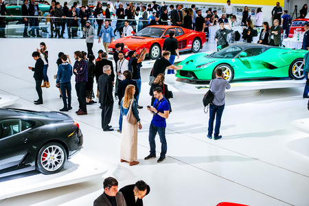 The event progressed alongside historical Ferrari cars.