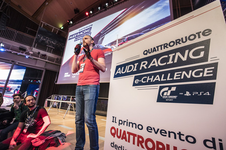 "Scenes from the ""Audi Racing e-Challenge."