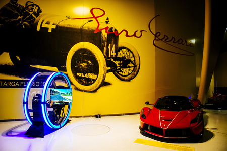 Entrance Hall of the Museo Enzo Ferrari.